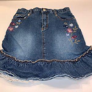 Lizzie Mcquire denim ruffle skirt size 12